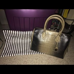 Henri Bendel Carlyle Large Satchel Crocodile